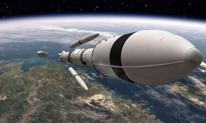 Minh họa UAE phóng tàu vũ trụ tới sao Hỏa