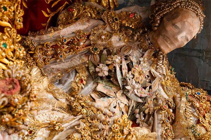 Bộ xương của Thánh Luciana.