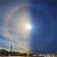 """Cận cảnh những """"hào quang"""" lạ quanh mặt trời, mặt trăng khắp thế giới"""