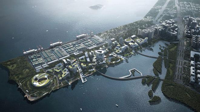 Net City, thành phố tương lai của Tencent.