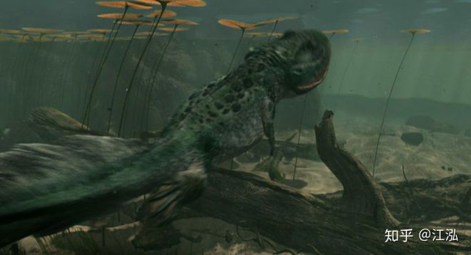 Koolasuchus dành phần lớn thời gian trong cuộc đời của mình ở dưới những vùng nước ngọt như sông, hồ