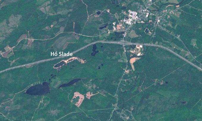 Ảnh vệ tinh của hồ Slade ngày 17/6/2020.