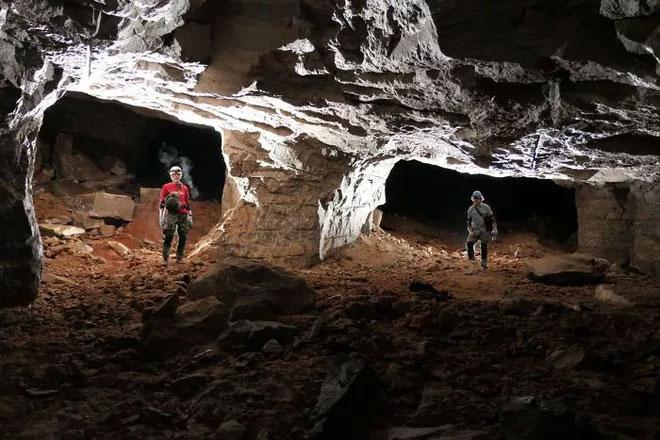 Toàn bộ phạm vi của khu mỏ vẫn chưa được khám phá hết vì các lối đi bị sụp đổ