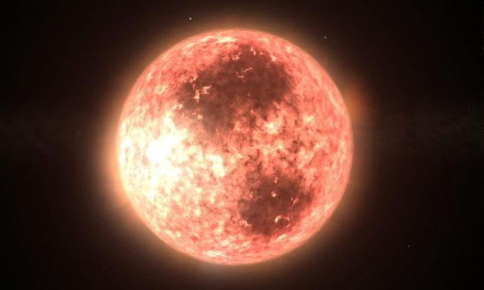 Đồ họa mô phỏng sao lùn đỏ AU Mic.
