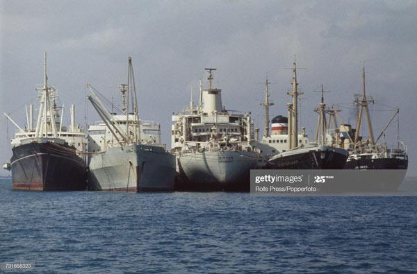 Kết quả là, 15 con tàu kể trên bị kẹt suốt từ năm 1967 đến năm 1973