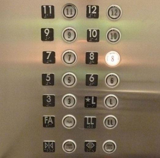 Các tầng trong thang máy