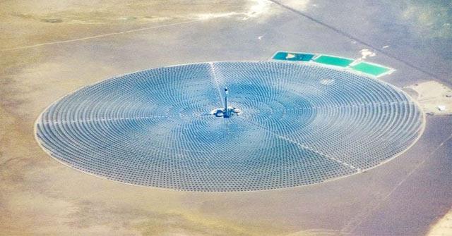 Nhà máy 'sử dụng công nghệ hội tụ năng lượng mặt trời' (CSP)