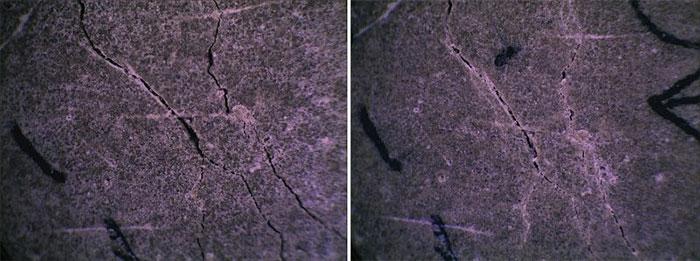Một thí nghiệm cho thấy bê tông chữa lành vết nứt của chính nó trong vòng 28 ngày.