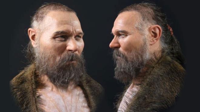 Khuôn mặt của người đàn ông 8.000 tuổi sau khi được phục dựng.
