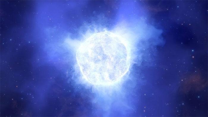 Hình ảnh mô phỏng minh họa về một ngôi sao sẽ trông như thế nào trước khi chết