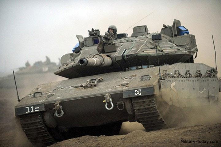Xe tăng của Israel có giáp dày nhiều lớp.