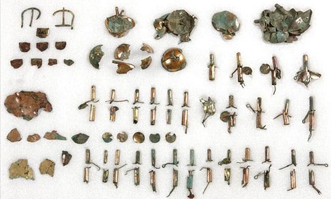 Các công cụ dành cho ngựa bằng đồng mạ vàng được khai quật tại Gyeongju, Hàn Quốc