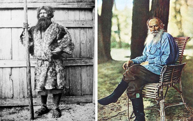 Người Ainu được mô tả khá giống... chân dung của đại văn hào Lev Tolstoy