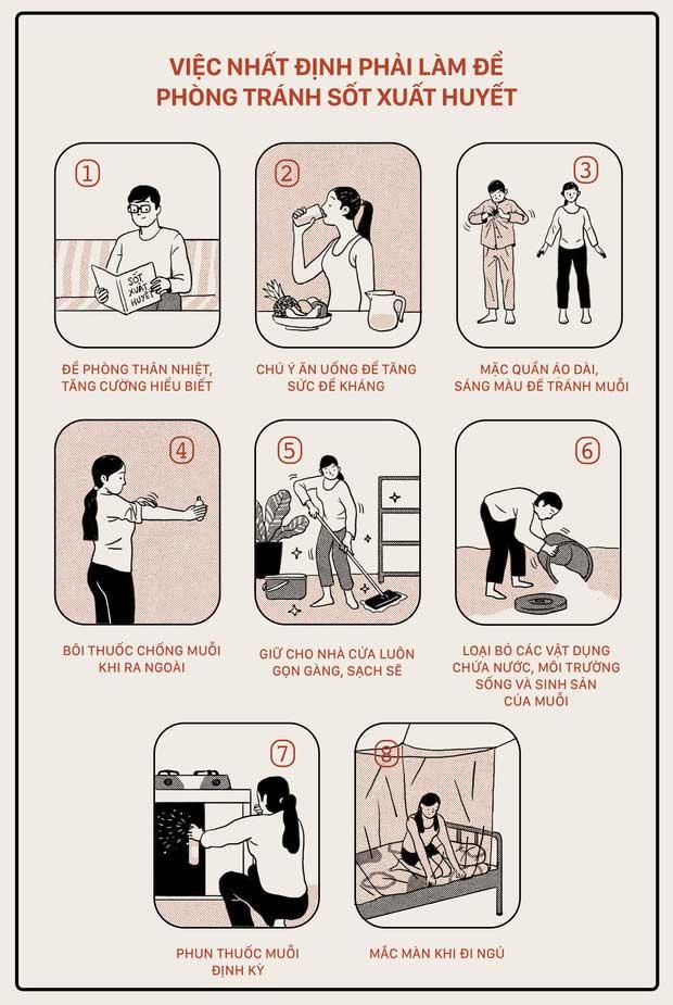 Những việc cần làm để phòng tránh sốt xuất huyết