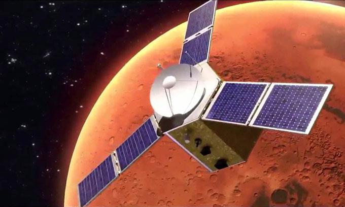 Hope sẽ là tàu vũ trụ đầu tiên của UAE bay tới hành tinh đỏ.