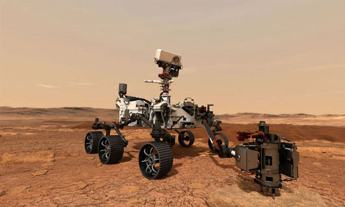 Robot Perseverance có nhiệm vụ tìm kiếm dấu vết sự sống trên sao Hỏa.