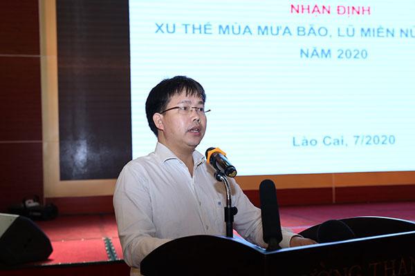 Giám đốc Trung tâm dự báo khí tượng thủy văn quốc gia Mai Văn Khiêm.