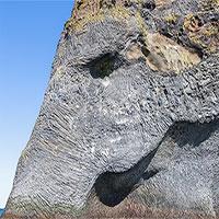 Ngộ nghĩnh ghềnh đá đĩa khổng lồ có hình dạng giống con voi ở Iceland
