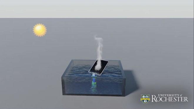 Tấm siêu hấp thụ này có thể tự động quay theo vị trí mặt trời nhằm nhận được nhiều nhiệt năng nhất.