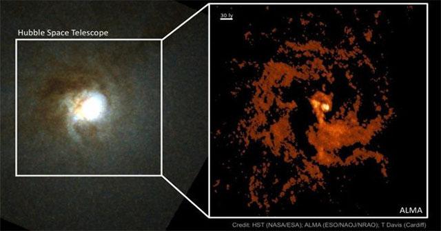 """Phát hiện thiên hà ma quái mang """"trái tim kho báu"""" 550.000 Mặt trời"""