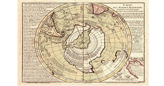Bí ẩn tấm bản đồ lục địa Nam Cực