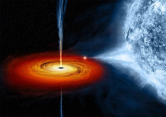 Quầng hào quang của hố đen thường thay đổi độ sáng trong 1 khoảng thời gian dài chứ không