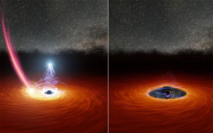 Lần đầu tiên trong lịch sử, các nhà thiên văn học quan sát được 1 hố đen vừa chớp mắt