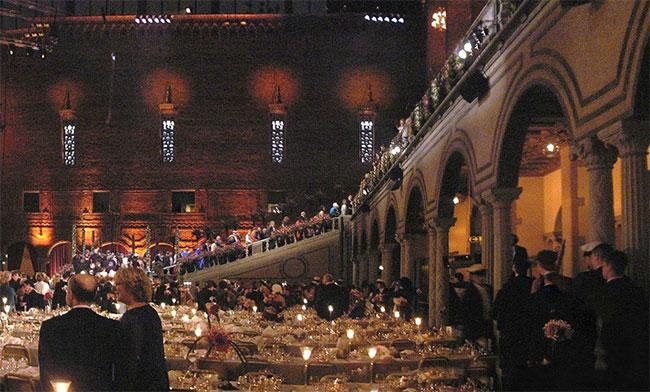 Bữa tiệc trao giải Nobel bị hủy bỏ.