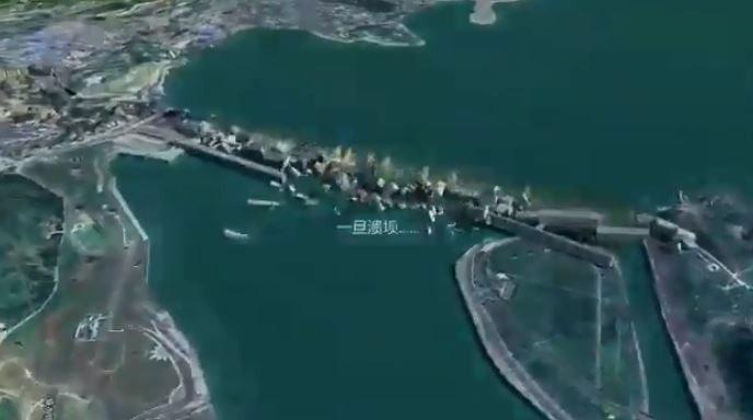 Video ước tính tốc độ của trận lũ ở giai đoạn này sẽ là hơn 100km/h.