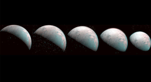 Những hình ảnh mới nhất về Ganymede mà tàu vũ trụ Juno vừa gửi về