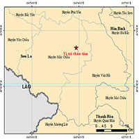 Sáng nay tiếp tục xảy ra 2 trận động đất tại Mộc Châu, Sơn La