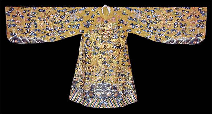 Long bào Đại triều của vua triều Nguyễn