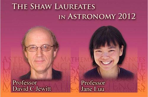Giáo sư Hằng cùng đồng nghiệp, thầy hướng dẫn David Jewitt được tôn vinh vì phát hiện vành đai Kuiper.