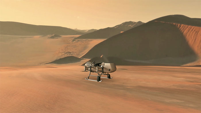 Drone Dragonfly trên Titan.