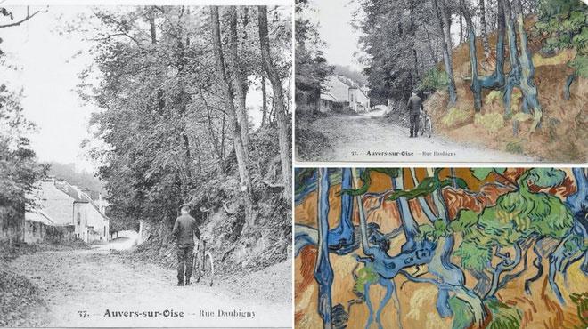 Tấm bưu thiếp về làng Auvers-sur-Oise