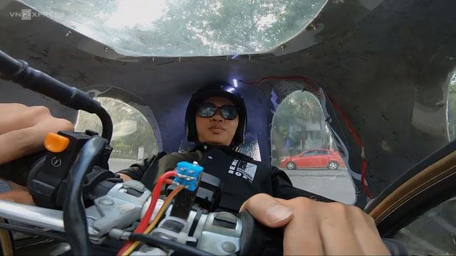 Chiếc xe của nhóm bạn gồm 4 phần chính: Vỏ xe, khung xe, động cơ và hệ thống truyền lực.