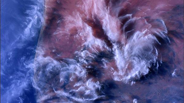 Nhìn từ không gian, Mauritanie hiện lên với màu đỏ tuyệt đẹp