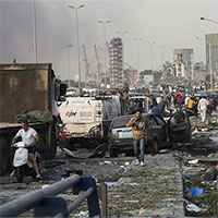 """Khung cảnh """"hậu tận thế"""" tại Beirut sau vụ nổ"""