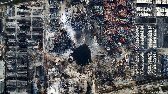 Sức hủy diệt của vụ nổ Thiên Tân.