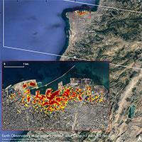 Hình ảnh vụ nổ Beirut nhìn từ vệ tinh