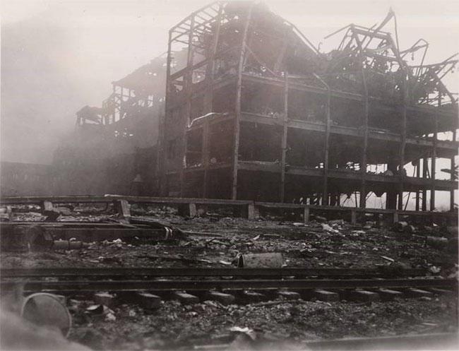 Hiện trường vụ nổ cảng thuộc thành phố Texas ngày 16/4/1947