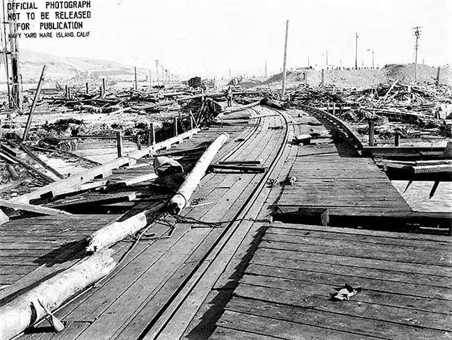 Hiện trường vụ nổ cảng Chicago ngày 17/7/1944.