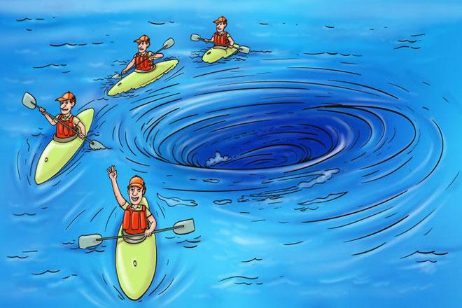 Xoáy nước giữa biển