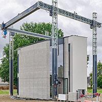 """Chỉ với một lần in, máy in 3D lớn nhất Châu Âu vừa cho """"ra lò"""" nguyên một ngôi nhà 2 tầng rộng 90m2"""