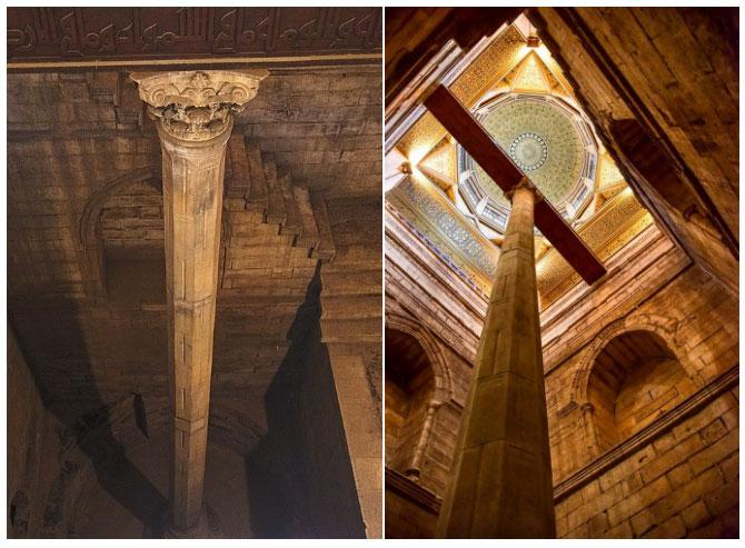 Nilometer đơn giản nhất là một cột trụ được cắm xuống sông, với các vết khắc thể hiện mực nước.
