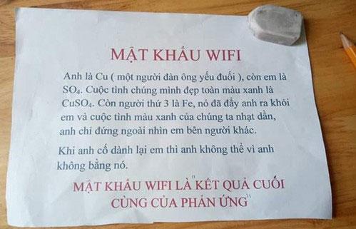 Đây vừa là bài toán, vừa là những câu ngôn tình hóc búa để những ai xin mật khẩu Wifi đỡ ức chế hơn.