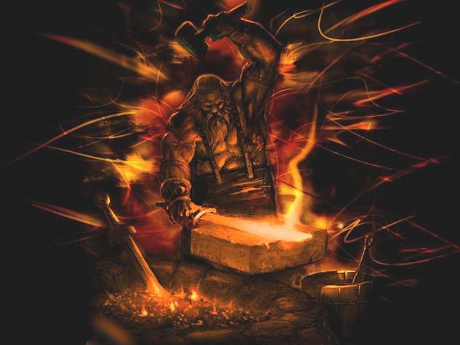 Hephaestus là thần lửa, thần thợ rèn