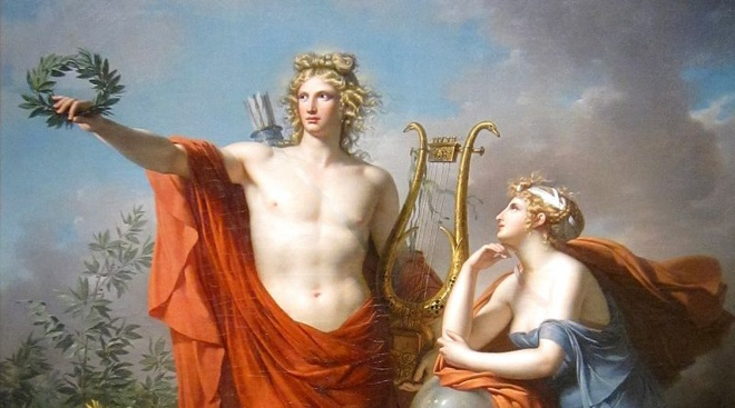 Apollo là vị thần tượng trưng cho ánh sáng và nghệ thuật