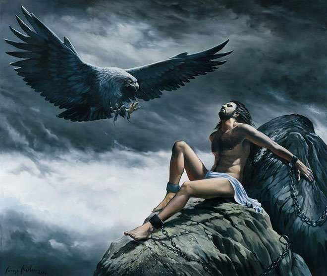 Prometheus là hậu duệ của Titan khổng lồ và cũng là vị thần tiên tri