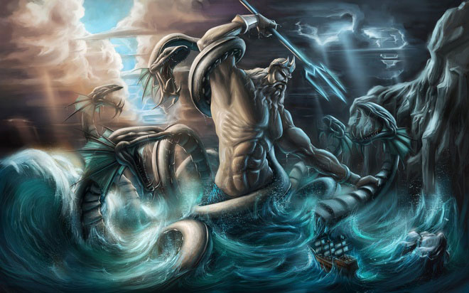 70% Trái Đất là nước và vị thần hùng bá đại dương chính là Poseidon